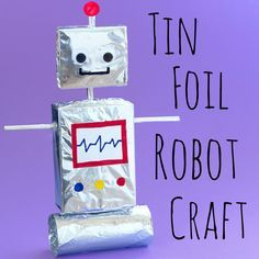 Kids will love to make their own robot out of tin foil with this fun craft idea! You can mix and match different shapes and sizes to create lots of different robots!