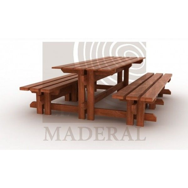 Mesa de camping empotrada - Productos El Maderal