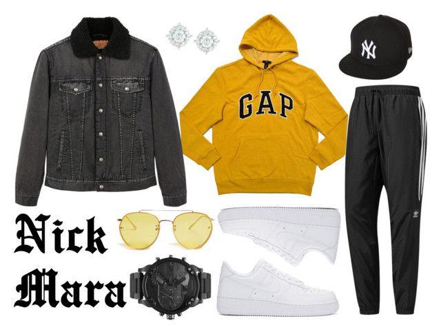 """Nick Mara"" by krystn101 ❤ liked on Polyvore featuring MANGO, adidas, New Era, NIKE, 21 Men, Diesel, Mémoire, men's fashion and menswear"
