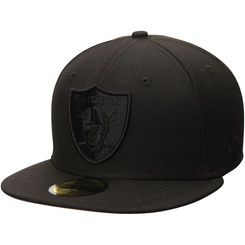 Oakland Raiders New Era Tonal 59FIFTY Fitted Hat - Black