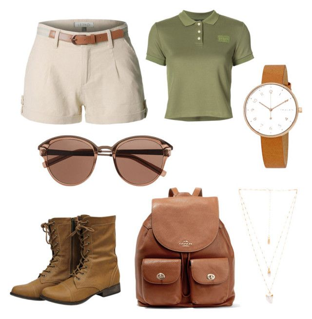 """Untitled #76"" by danaemf on Polyvore featuring Puma, LE3NO, Coach, Witchery, Natalie B and Skagen"