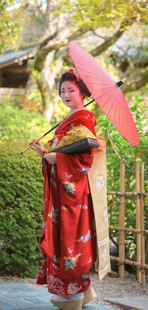 舞妓 maiko 勝奈 katsuna 上七軒 KYOTO JAPAN                              …