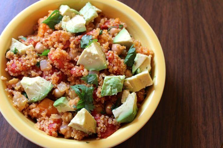Healthy Dinner: One Pot Sweet Potato Quinoa Stew (Video)