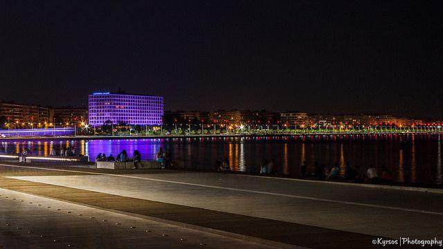 ● Thessaloniki - Nea Paralia (New Warterfront) Nightshot   ● Θεσσαλονίκη, Νέα Παραλία, Νυχτερινή Λήψη.  ● #thessaloniki #nightshot #night #greece #macedonia #nea #paralia #θεσσαλονικη #νεα #παραλια #νυχτερινη #φωτογραφια