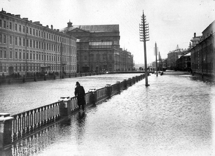 Крюков канал. Наводнение. 1903 г.