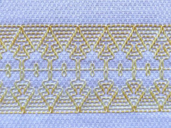 Tea Towel Dish Towel Swedish Weaving in Yellow by SnowboundMe