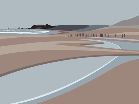 Sandsend beach to whitby http://www.ianmitchell-art.com/index.php/print-gallery/yorkshire-coast