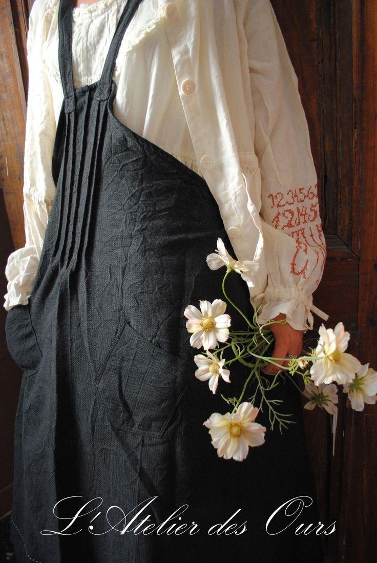 White apron brighton - Black