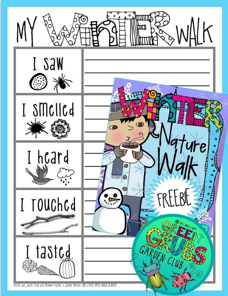 ~FREE PRINTABLE~ Get your kids bundled up in some warm clothes, grab your magnifying glasses and head outside for a Winter Nature Walk! This is a fun outside activity allowing your children to soak up the simple pleasures of nature...