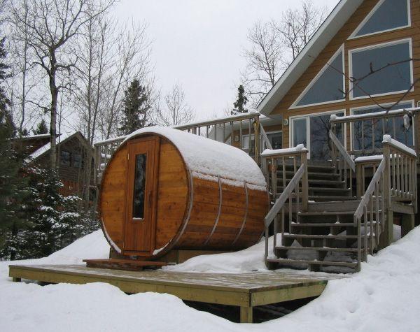 outdoor sauna.......
