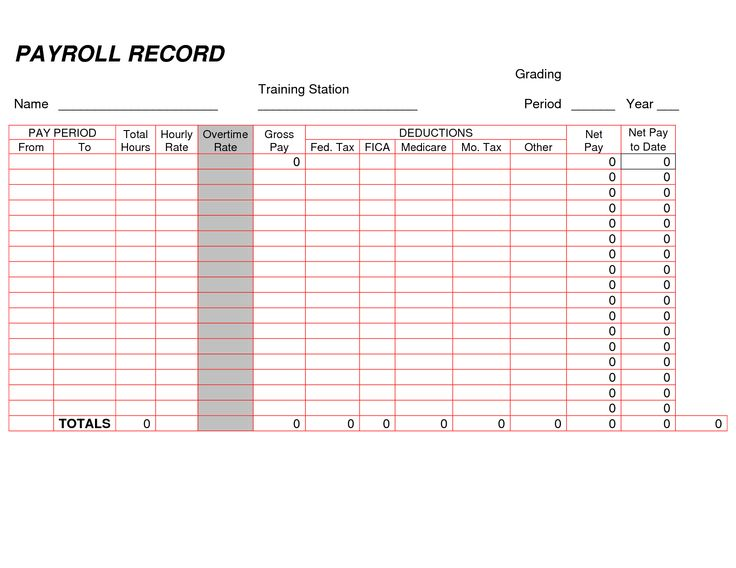 printable payroll ledger