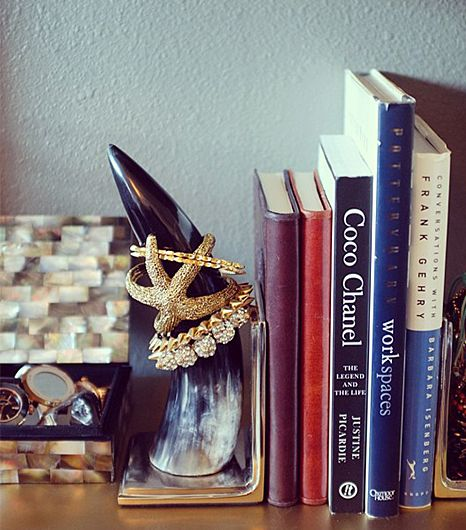 Horn bookends & bangle stackers