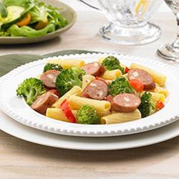 Johnsonville Smoked Chicken Italian Sausage and Broccoli Rigatoni ---- Recipes, Pasta, Dinner, Main Dish