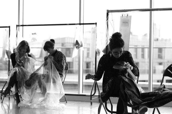 Mary Katrantzou Fall 2013 Backstage Preparations