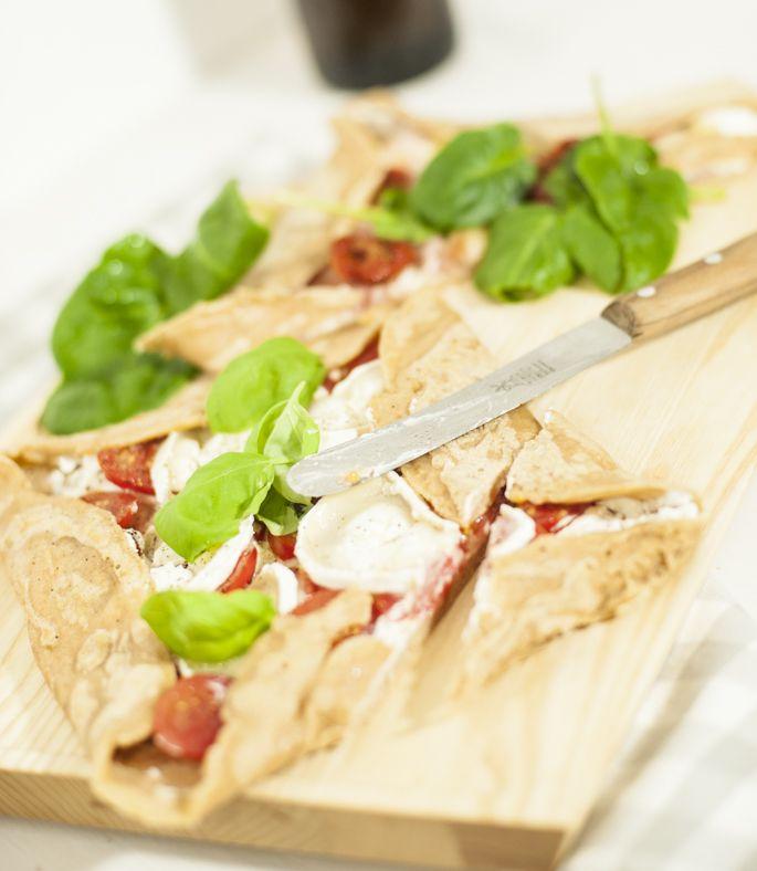 Galette : Tomaten-Ziegenkäse meets Parma-Jungspinat
