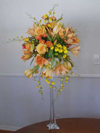 """24"""" Clear Glass Eiffel Tower Vase - Centerpiece Essentials - Reception Accessories - Wedding Supplies-"""