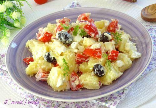 Insalata di patate alla greca http://www.ilcuoreinpentola.it/ricette/insalata-di-patate-alla-greca/