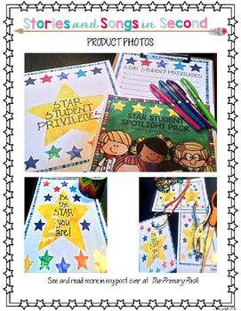 Star Student Spotlight Pack-Positive Behavior Incentive Activities Honor the students that shine by creating a special space for them to work and set a good example for others! Behavior/$