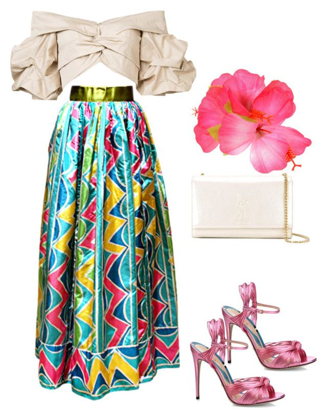 """70's boho 🏵🌺"" by penkreitto on Polyvore featuring Oscar de la Renta, Johanna Ortiz, Gucci and Yves Saint Laurent"