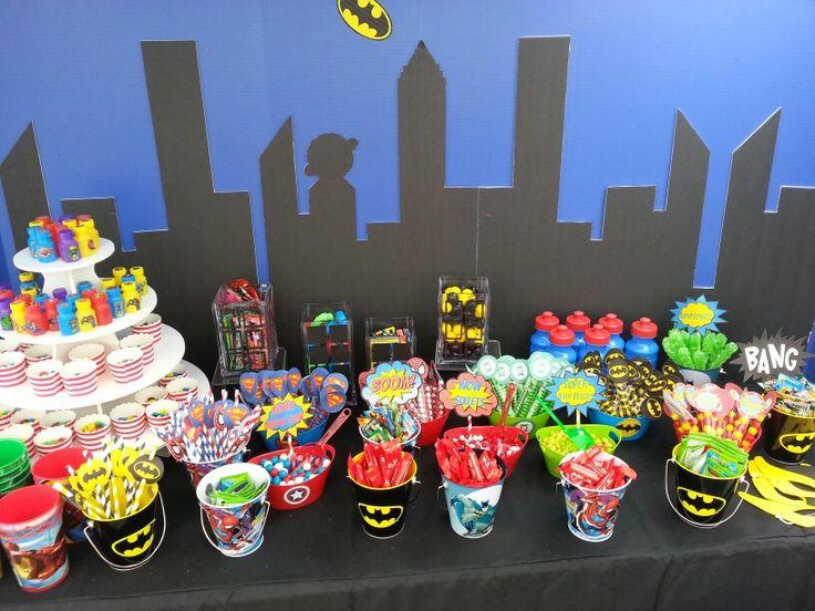 Superhero Candy Buffet Helenssweetevents Com Gabriel S