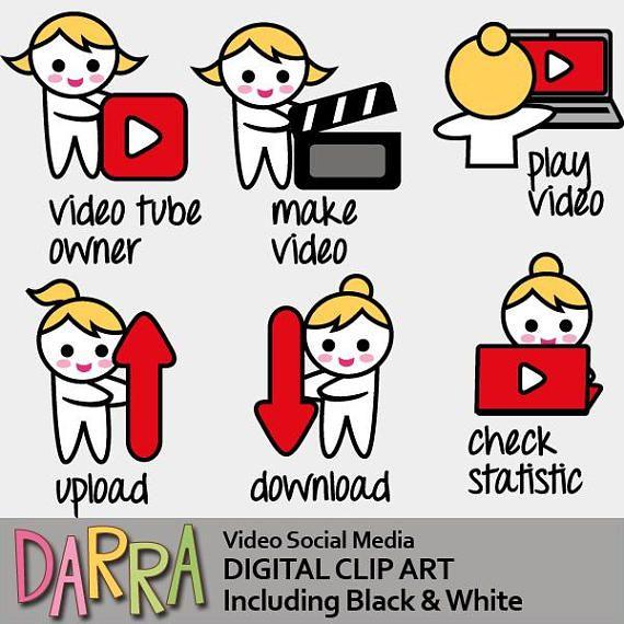 Emoti clipart / notebook video maker upload download