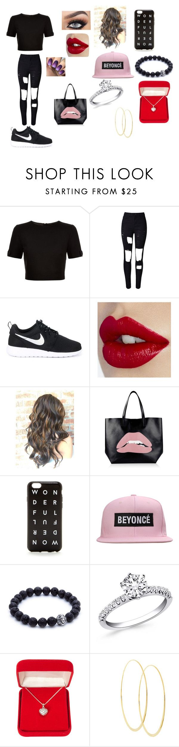 Untitled #5 by julle-fangirl on Polyvore featuring Ted Baker, WithChic, NIKE, RED Valentino, Lana, Alexa Starr and J.Crew