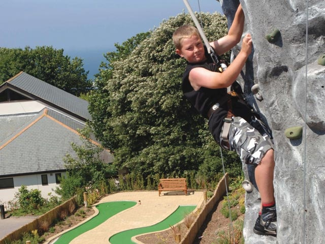 Climbing wall at Woolacombe Bay Holiday Parks