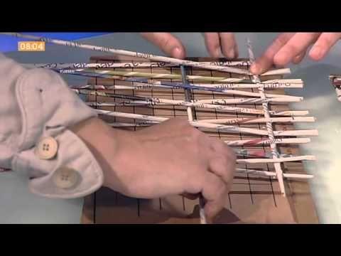 ▶ Tutti i segreti per realizzare una borsa da mare intrecciando la carta - YouTube