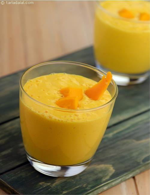 Mango Lassi recipe | Punjabi Recipes | by Tarla Dalal | Tarladalal.com | #30864