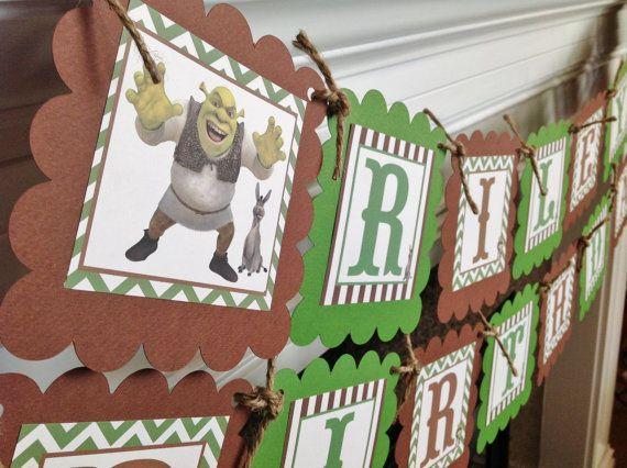 Shrek & Donkey Inspired Happy Birthday by EmeraldCityPaperie, $28.00