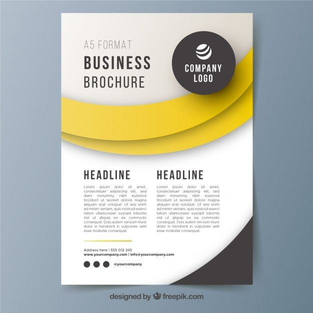 A5 Broschre Broschre Vorlage Kostenlose Vektor In 2020 Free Brochure Template Indesign Brochure Templates Business Flyer Templates