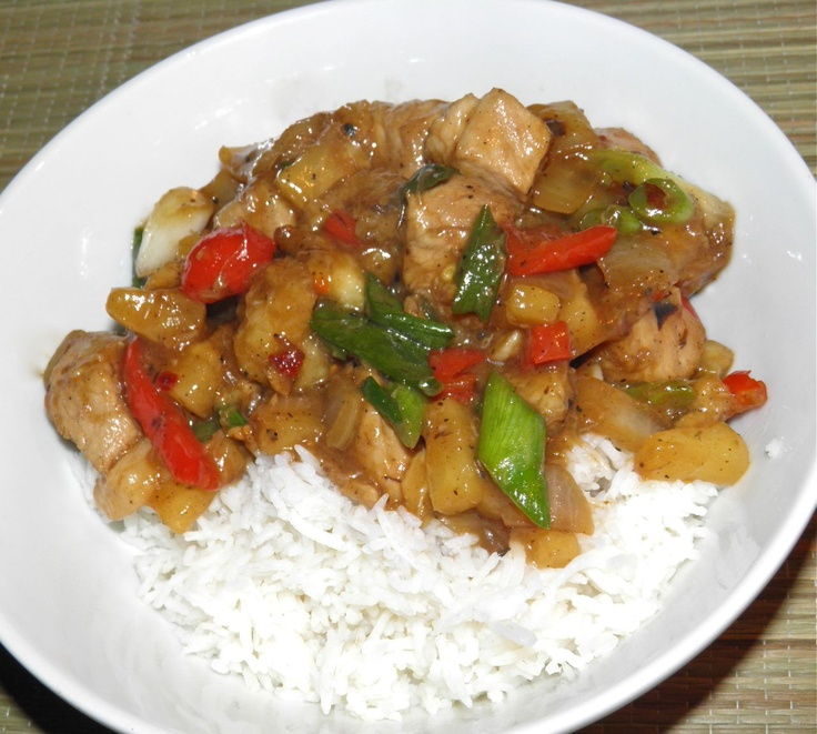 Cooking with bananas - Caribbean Banana Chilli Pork. Spicy and sweet!