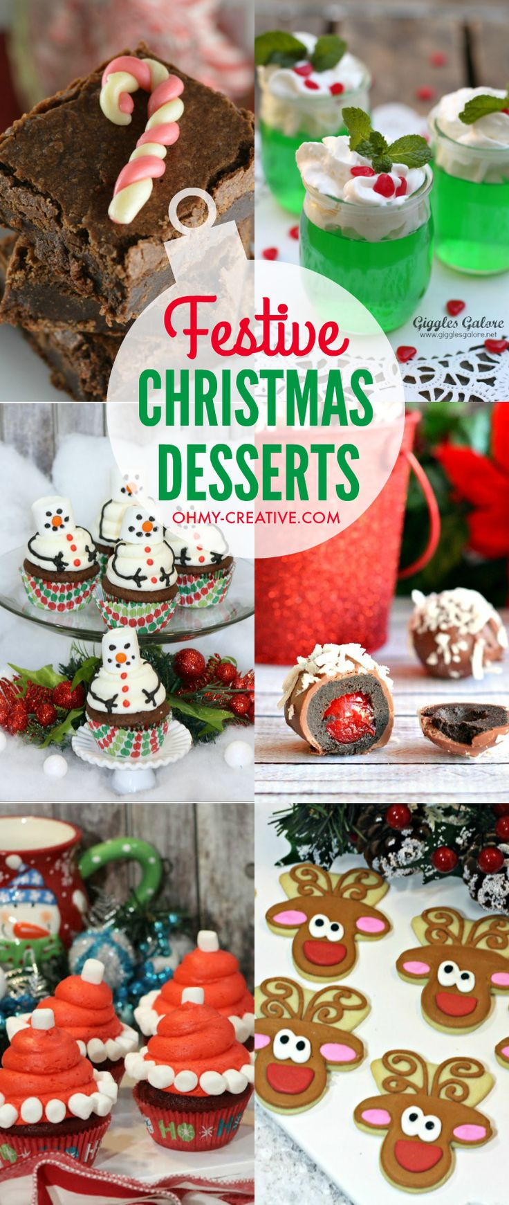 These Festive Christmas Desserts would be perfect for Christmas get-togethers and parties. Make and take them to family events or the office party!