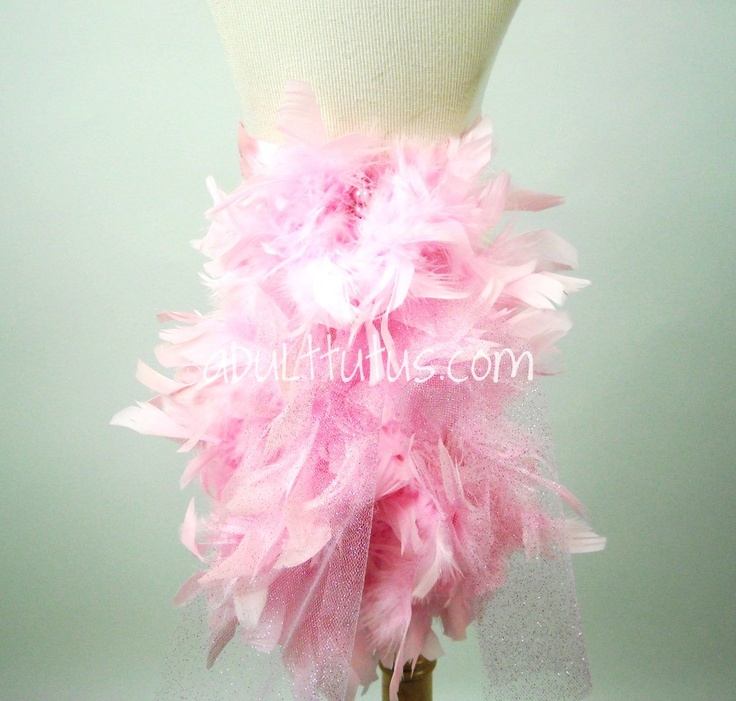 Items Similar To Candy Pink And Pearl Burlesque Feather Bustle Wedding Birthday Pageant On Etsy