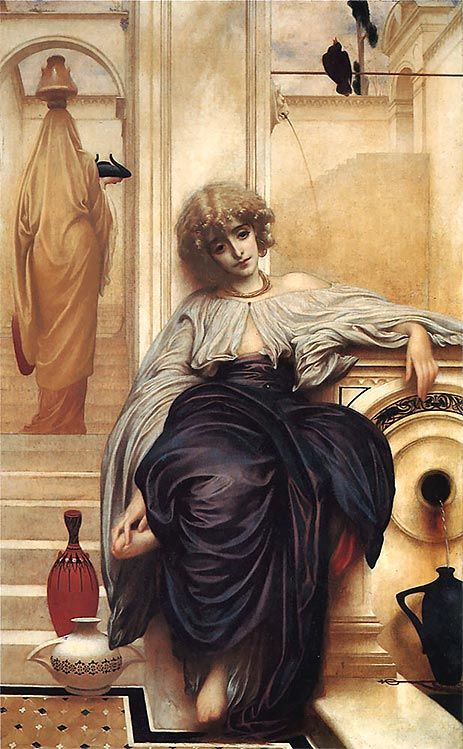 Painting Title: Songs Without Words (Lieder Ohne Worte), 1861 | Artist: Lord Frederick Leighton (1830-1896) | Medium: Fine Art Painting Reproduction by TOPofART.com