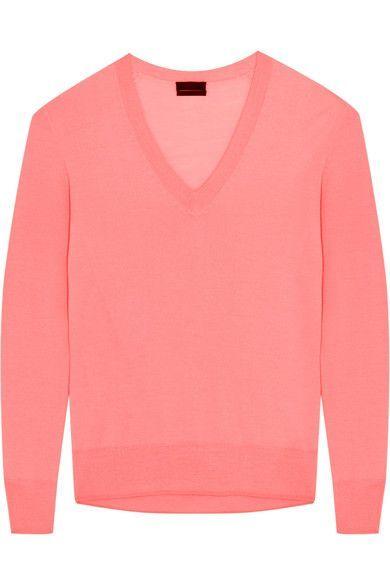Bright-pink cashmere  Slips on  100% cashmere  Machine wash  Designer color: Neon Vivid Coral Imported