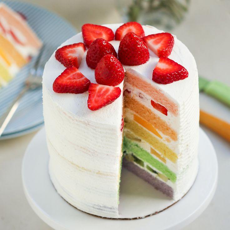 Colourful Fruit Cake: Best 25+ Fruit Birthday Cake Ideas On Pinterest