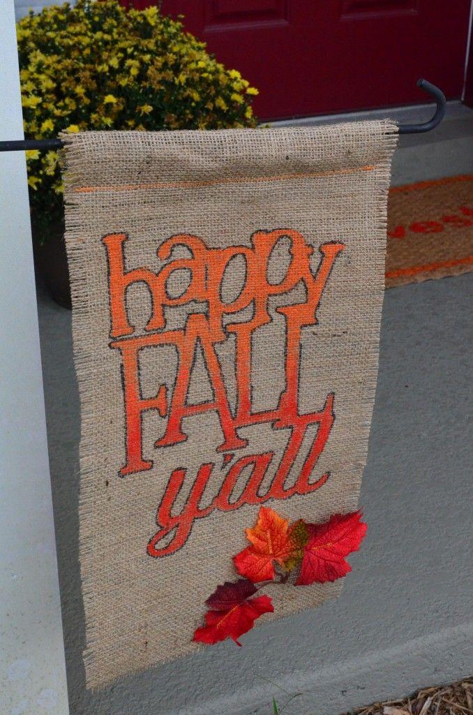 make your own fall garden flag with this tutorial: http://blog.homes.com/2013/10/homes-com-diy-experts-how-to-make-a-fall-garden-flag/