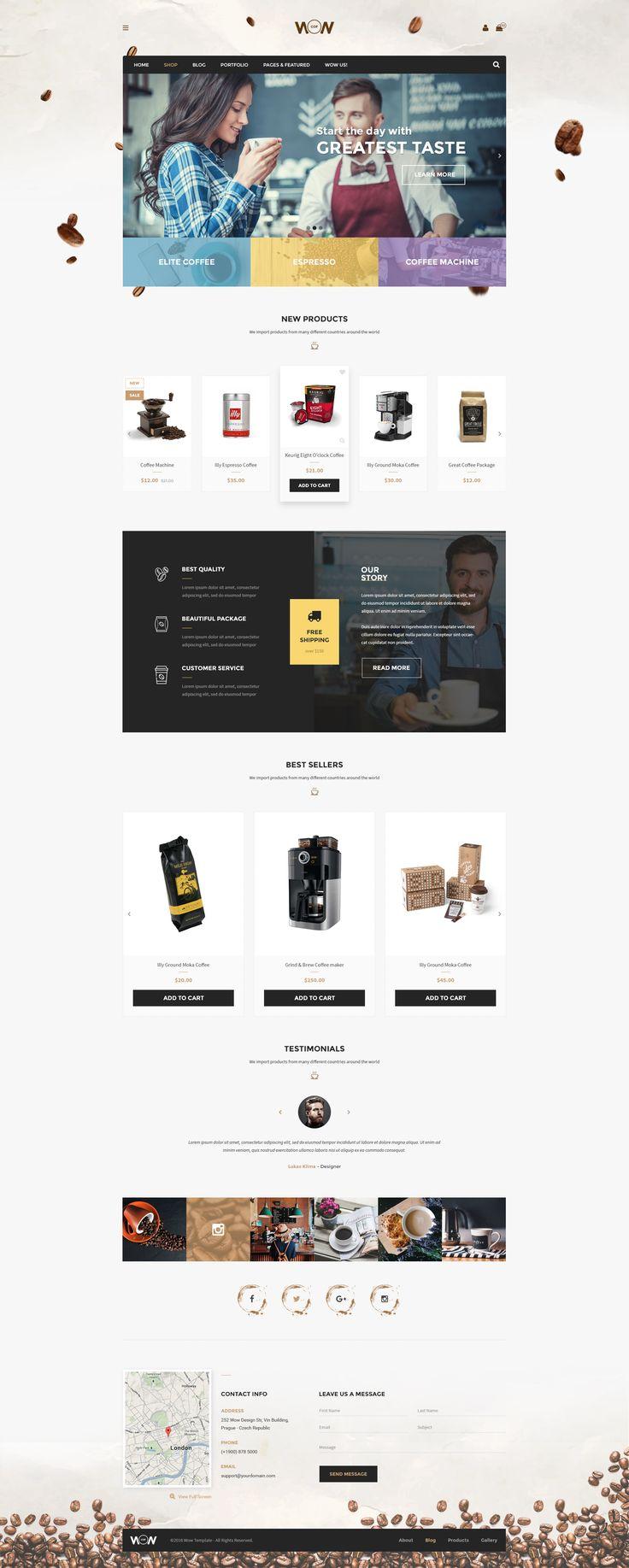 Wow Multi-purpose E-commerce Theme Coffee Shop Homepage01