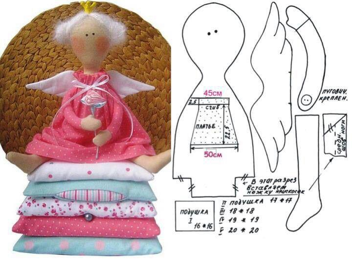 Mini Tilda....(Yaye! Another freebie! A cute tilda doll, too!!)...