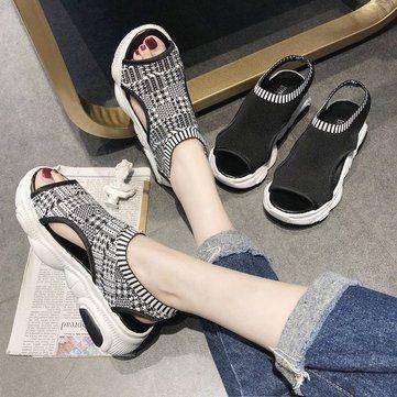 Muffin Sandalen Frauen Dicke Sohle Schuhe Neue Modelle Wilde Studenten Saison Fl…