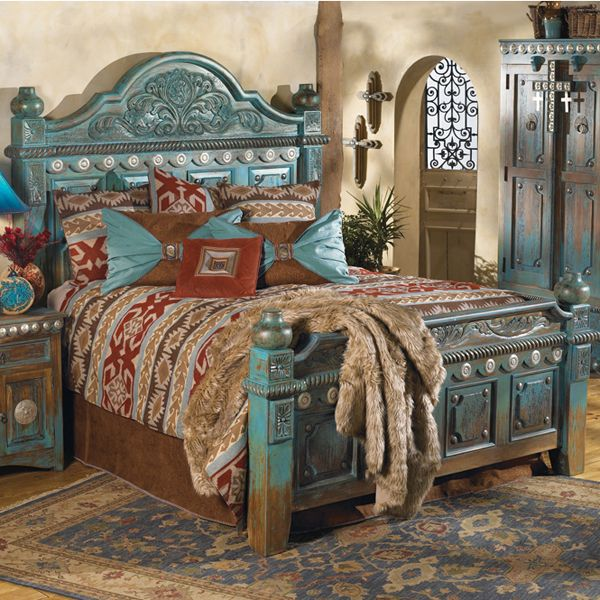 Stunning..Las Cruces Bed | Western beds | Western bedroom | Western Furniture