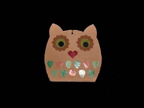 ▶ Laterne Basteln (Eule): Paper Lantern (Owl) - Tutorial [HD/DE] - YouTube