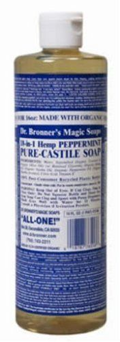 Organic Castile Liquid Soap Peppermint Dr Bronners 16 oz