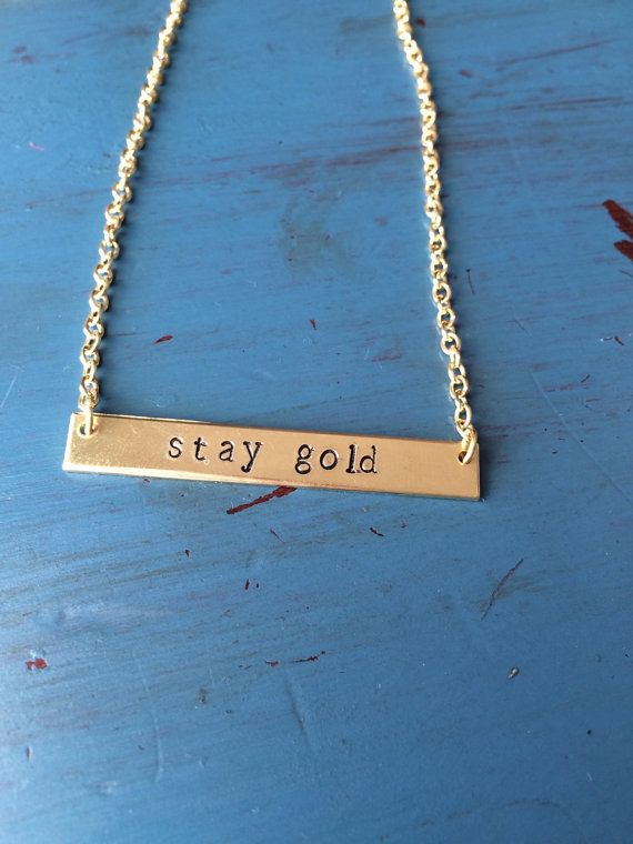 The Outsiders inspired Stay Gold hand stamped by HelloHandMaid