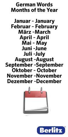 Maanden - Monate
