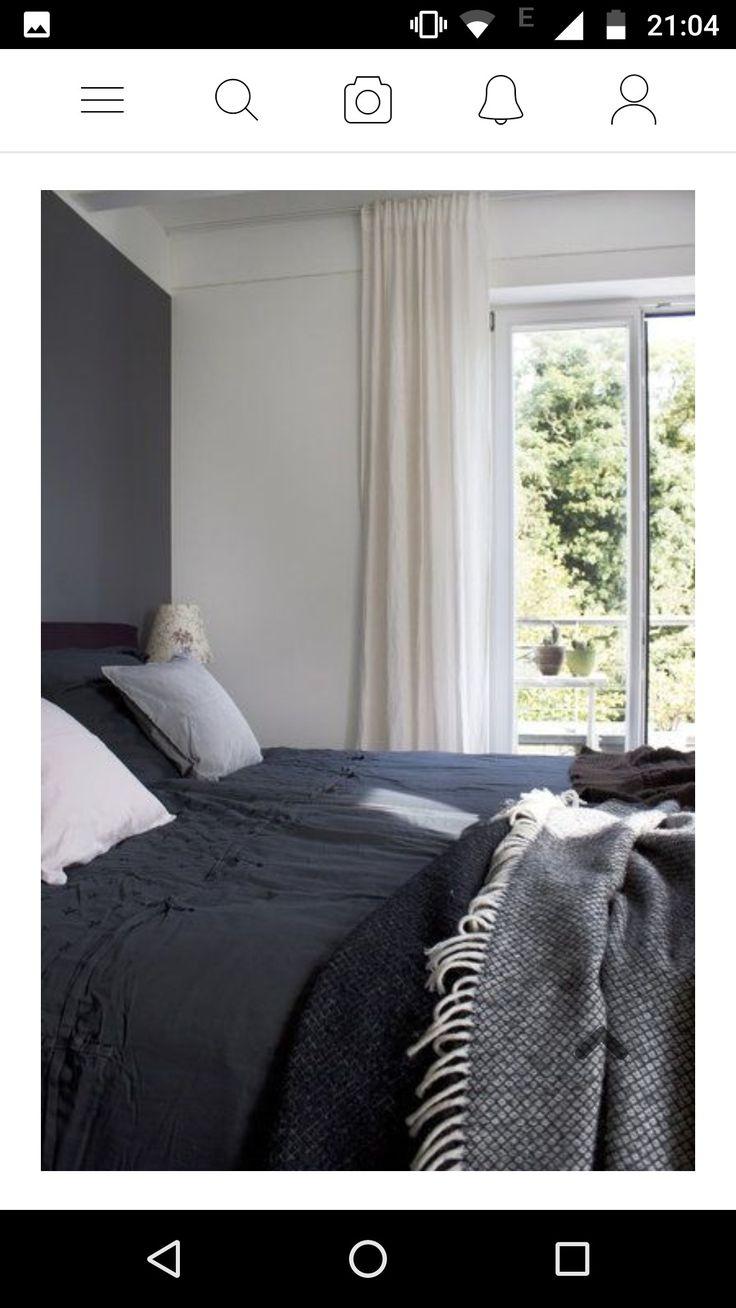 vorhänge an der decke  schlafzimmer und deckchen