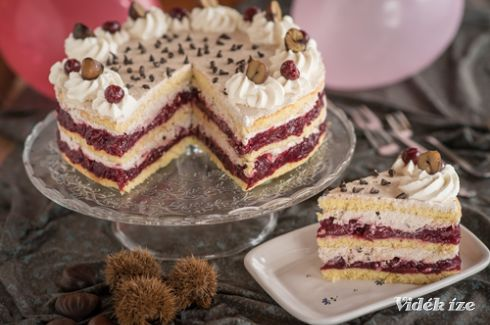 Meggyes-gesztenyés torta - Vidék Íze
