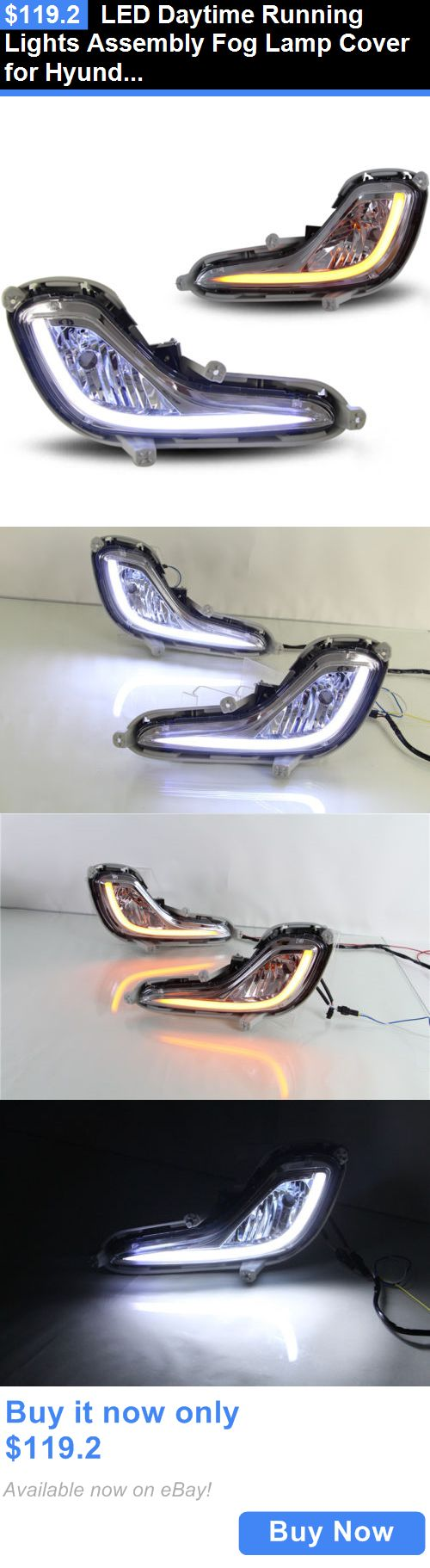 Motors Parts And Accessories: Led Daytime Running Lights Assembly Fog Lamp Cover For Hyundai Accent BUY IT NOW ONLY: $119.2