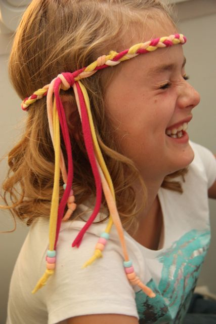 diy hippie beaded headband